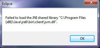 image de l'aticle failed to load the jni shared library jvm.dll